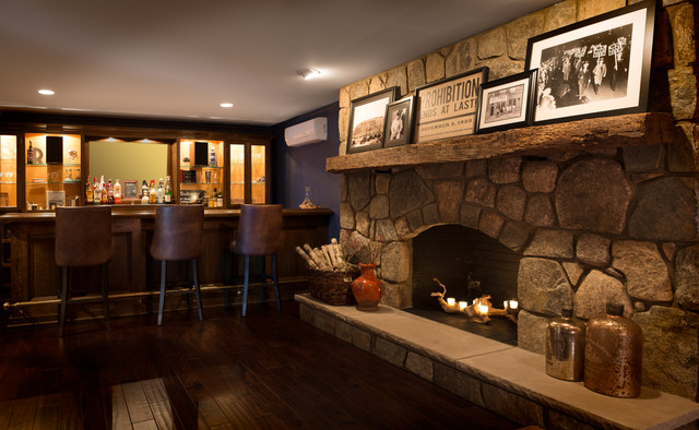 Basement Bar Rustic wine cellar