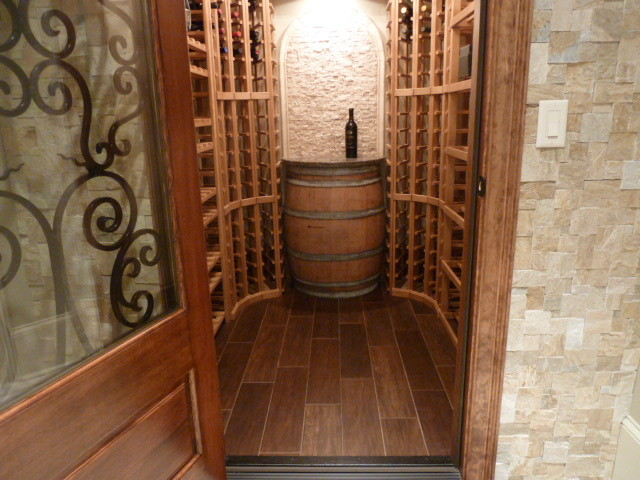 Basement finish traditional-wine-cellar