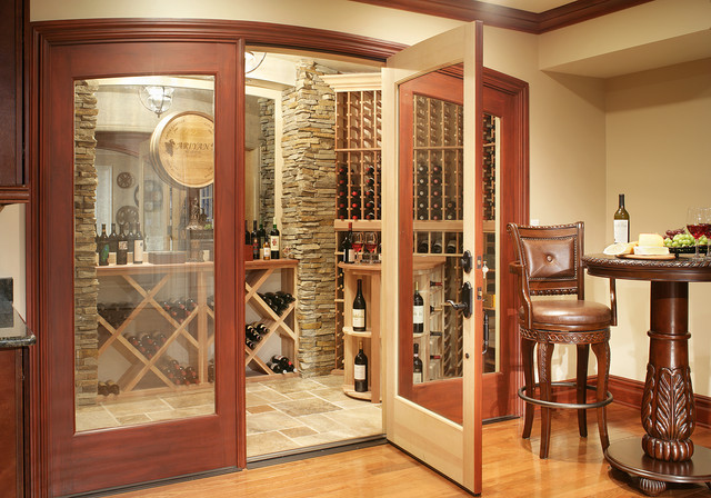 Basement remodel traditional wine cellar new york for Building wine cellar