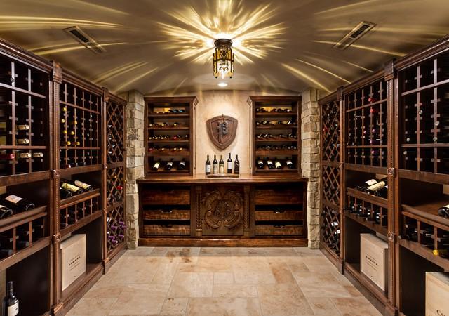Basement renovation traditional wine cellar milwaukee by renaissance design renovation - Basement wine cellar ideas ...