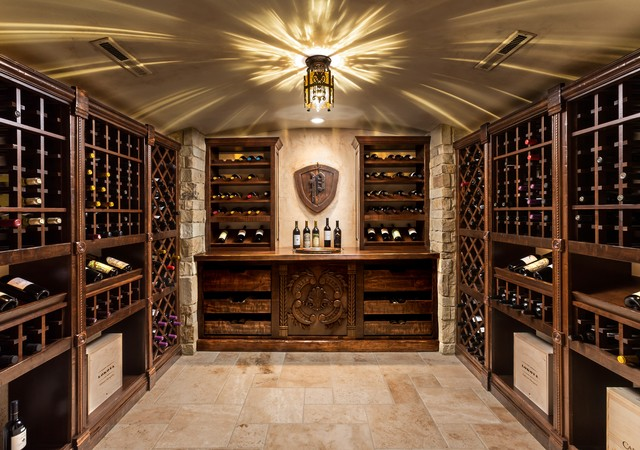 Basement renovation traditional wine cellar for Wine cellar layout