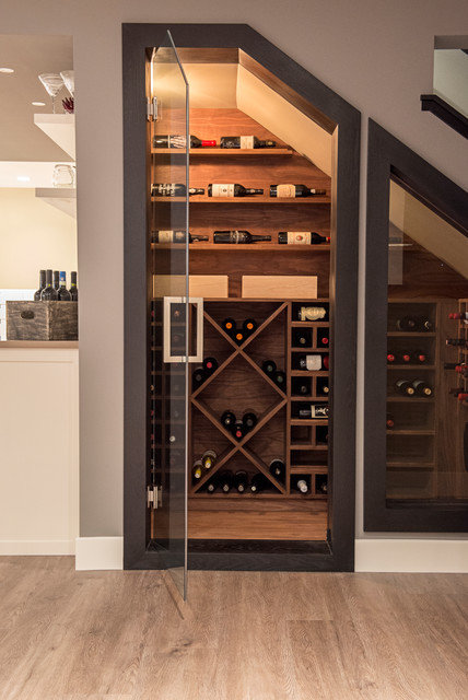 Basement Under Water Contemporary Wine Cellar Calgary By Remanente Design Ltd