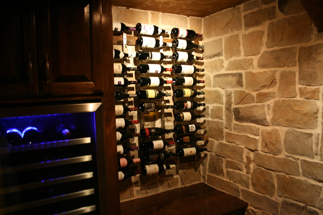 Basement Update traditional-wine-cellar