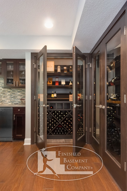 Basement Wine Cabinet Storage - Modern - Wine Cellar - minneapolis - by Finished Basement Company