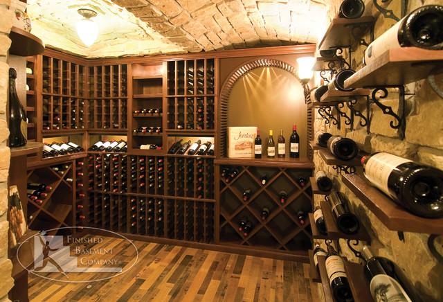 Basement Wine Racks Traditional Wine Cellar