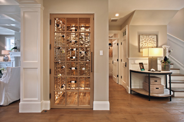 Bayshores Drive - Beach Style - Wine Cellar - Orange County - by Brandon Architects, Inc.