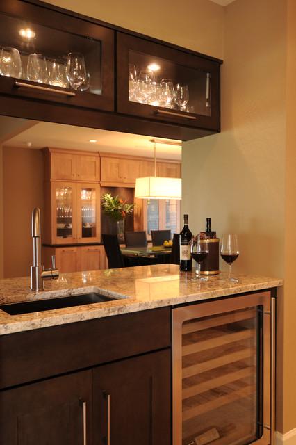 beautiful and energy saving renovation transitional-wine-cellar
