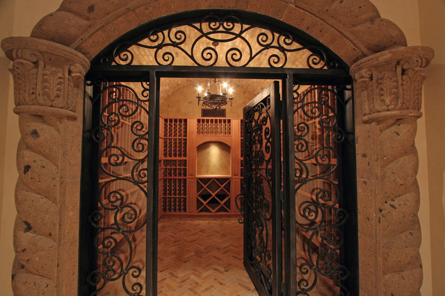 Beautiful Home in Scottsdale, AZ built by Fratantoni Luxury Estates mediterranean-wine-cellar