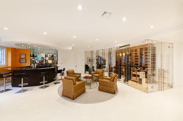 Bergen County NJ Wine Room - Modern - Wine Cellar - New ...