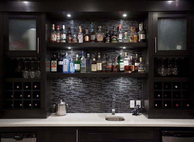 bilick basement development contemporary wine cellar calgary