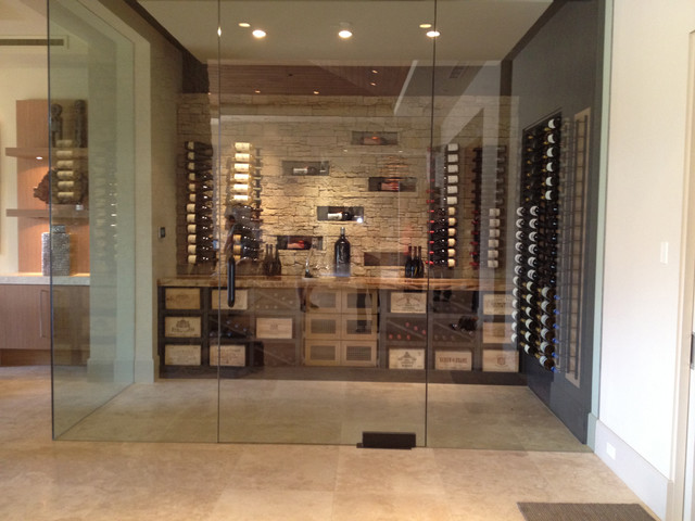 Black Bird Interiors Wine Cellar Modern