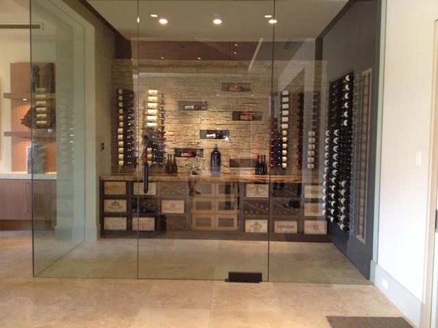Black Bird Interiors Wine Cellar Modern Wine Cellar