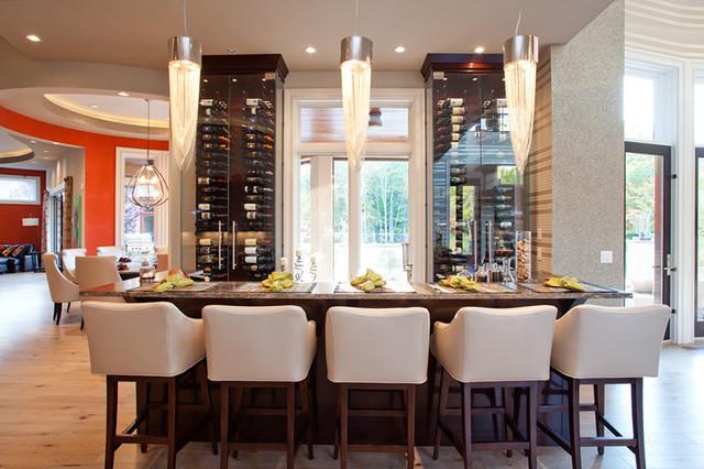 Blome Rd. Indian Hill Ohio contemporary-wine-cellar