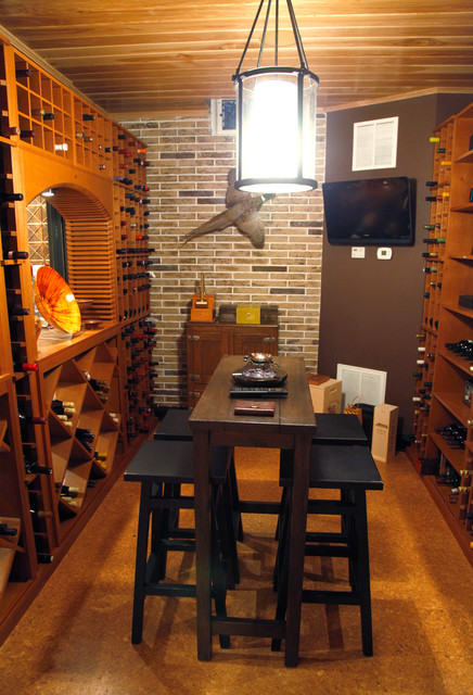 Blystone traditional wine cellar