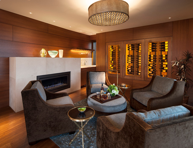 Boulder Contemporary Midcentury Wine Cellar Denver