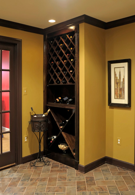 Brambleton Basement Traditional Wine Cellar Dc Metro By Kristin Drohan Collection And