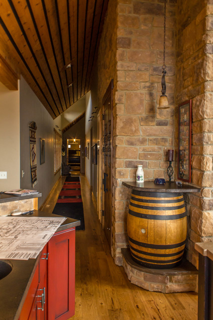 brasada ranch style homes traditional wine cellar - Western Design Homes