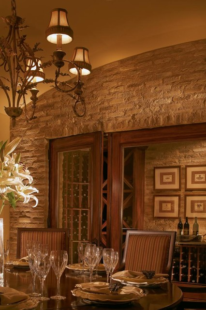 Brick dining room wall traditional wine cellar by for Wine pictures for dining room
