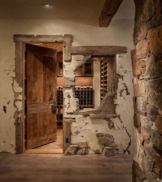 Broken Wall Contemporary Wine Cellar Denver By Highline Partners Ltd