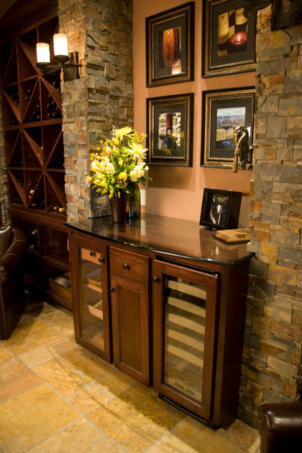 Built in  Mediterranean  Wine Cellar  Portland  by MCM Construction Inc