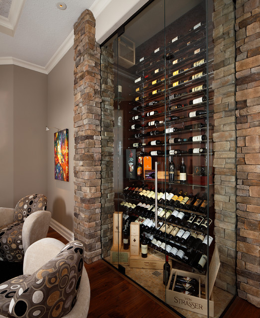 Built Ins Amp Studys Transitional Wine Cellar Orlando