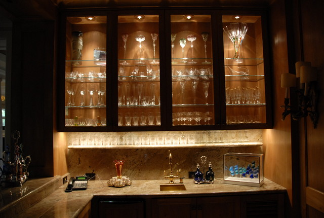 Beau Cabinet Lighting Contemporary Wine Cellar