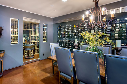 What Are The Wine Racks On Dining Room Wall