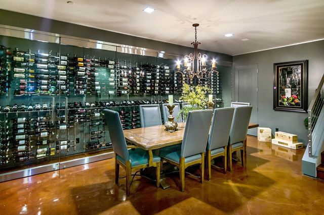 California Home Modern Wine Cellar San Francisco