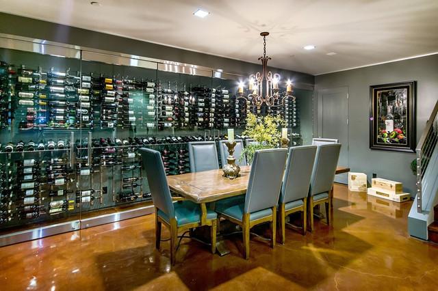 California Home modern wine cellar