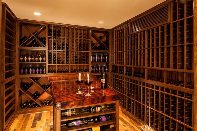 Cape Cod Home Wine Cellar Boston traditional-wine-cellar