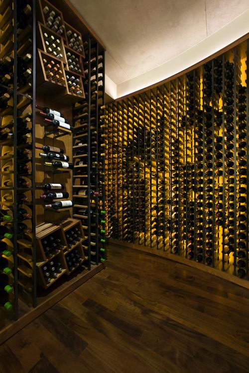 CH portfolio modern wine cellar