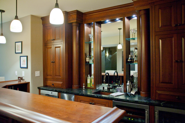 Chester Basement traditional-wine-cellar