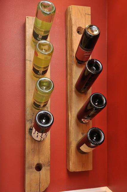 Chestnut Wine rack rustic-wine-cellar