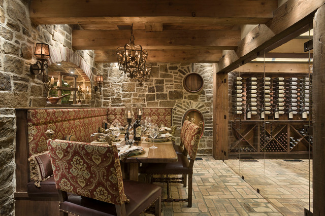 Chimney Rock Residence Rustic Wine Cellar Other