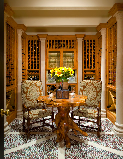 Classic French House traditional-wine-cellar