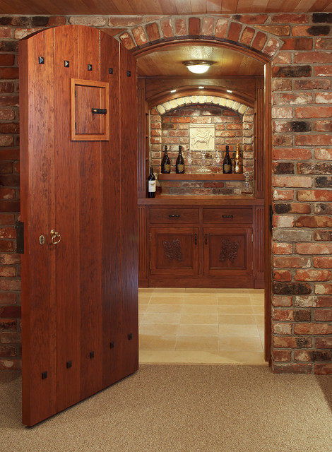 Clay Residence traditional wine cellar