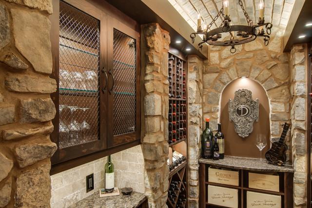 Closet converted into a Custom Wine Cellar - Mediterranean - Wine Cellar - Other - by Germano ...