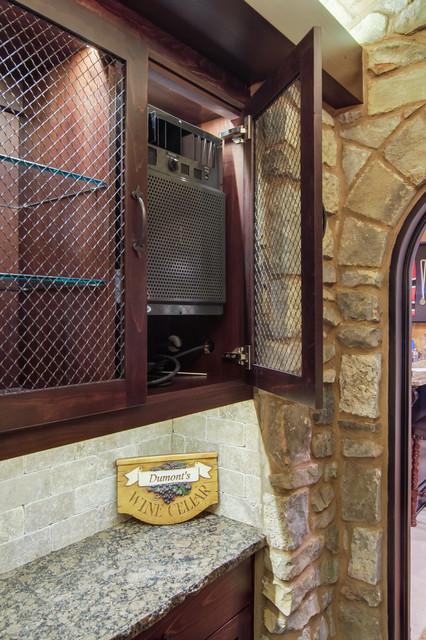 Closet converted into a Custom Wine Cellar mediterranean-wine-cellar