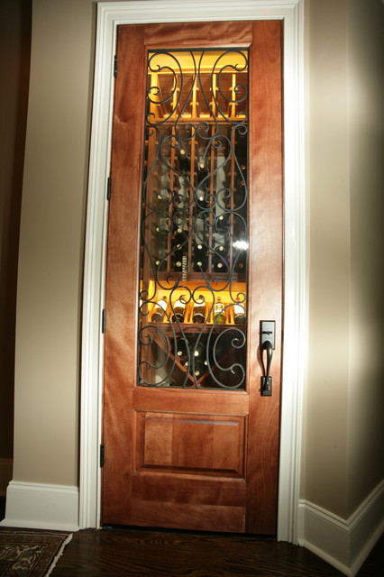 Closet converted to wine cellar traditional wine Turn closet into wine cellar