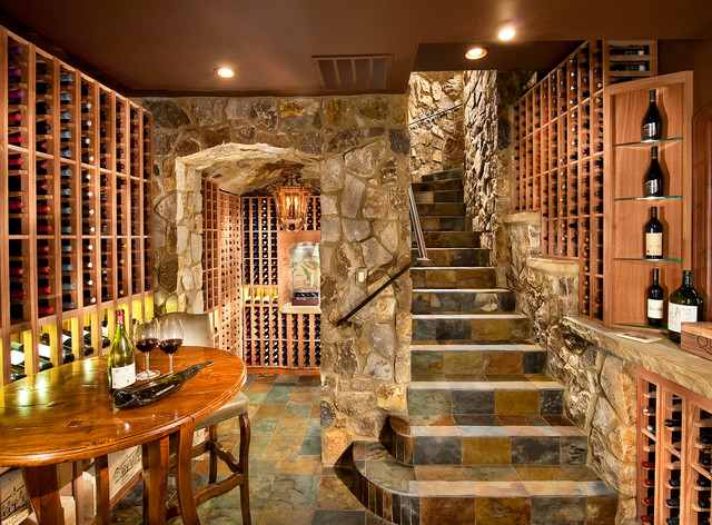 Charmant Collins Residence Traditional Wine Cellar