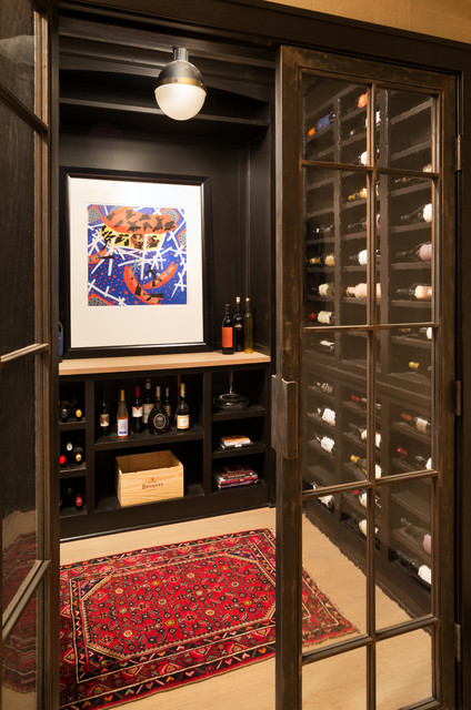 Comfortable Cottage Style - Transitional - Wine Cellar ...