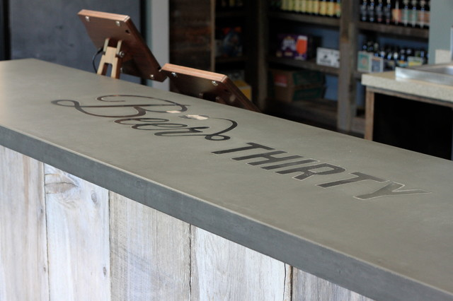 Concrete Bar Top Craftsman Wine Cellar San Francisco