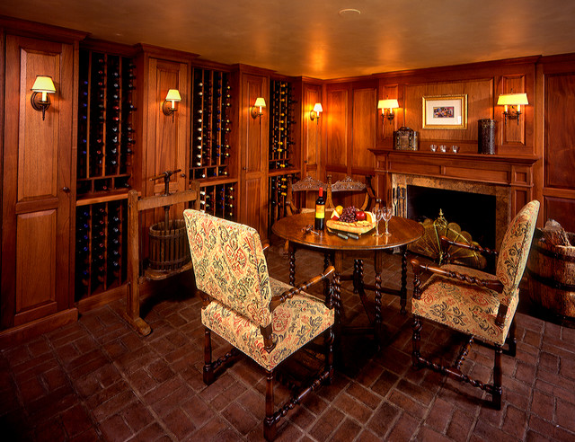 Connecticut Wine Room traditional-wine-cellar