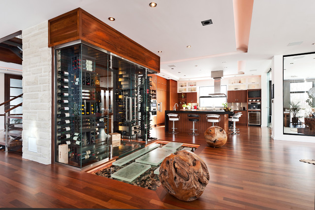 Contemporary Home - Boucherville contemporary-wine-cellar