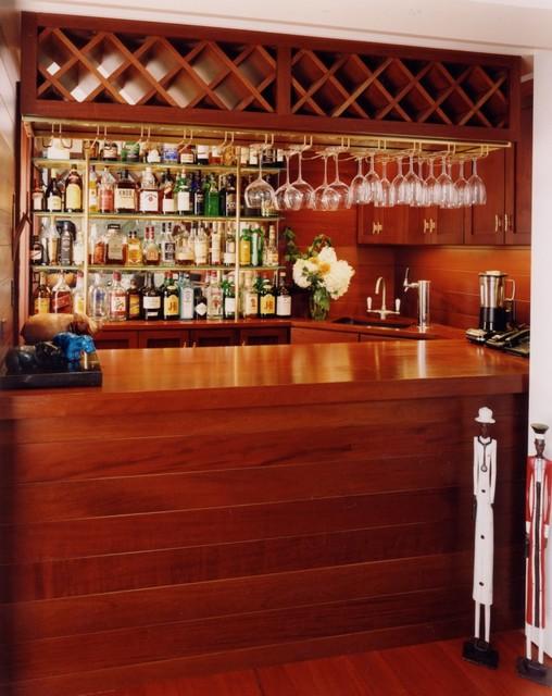 Contemporary Quarters Bar Wine Cellar