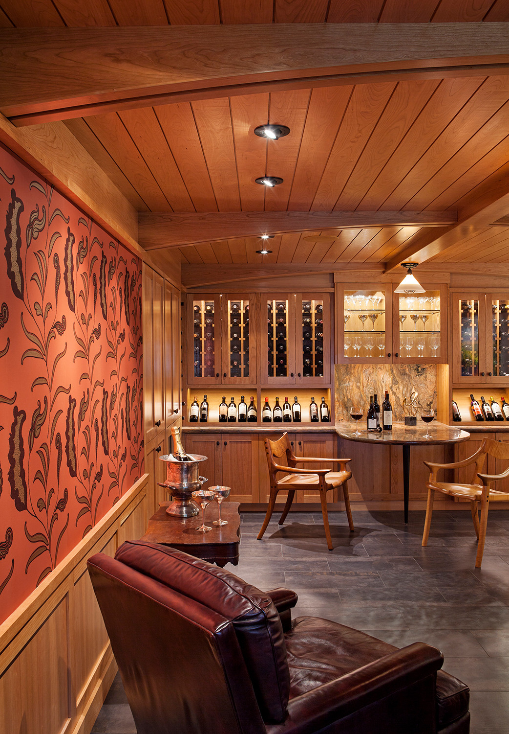 Contemporary Wine and Art Room