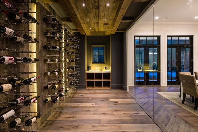 contemporary wine cellar. Black Bedroom Furniture Sets. Home Design Ideas