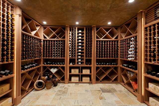 Contemporary wine cellar contemporary wine cellar for Build a wine cellar