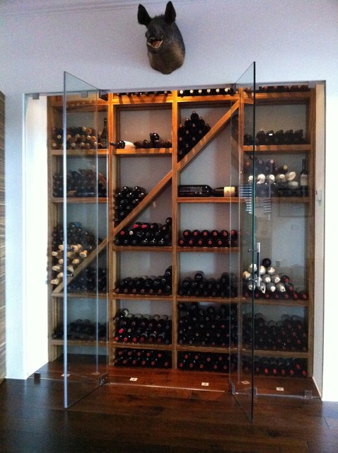 Contemporary Wine Cellar with refrigeration by Kessick ...
