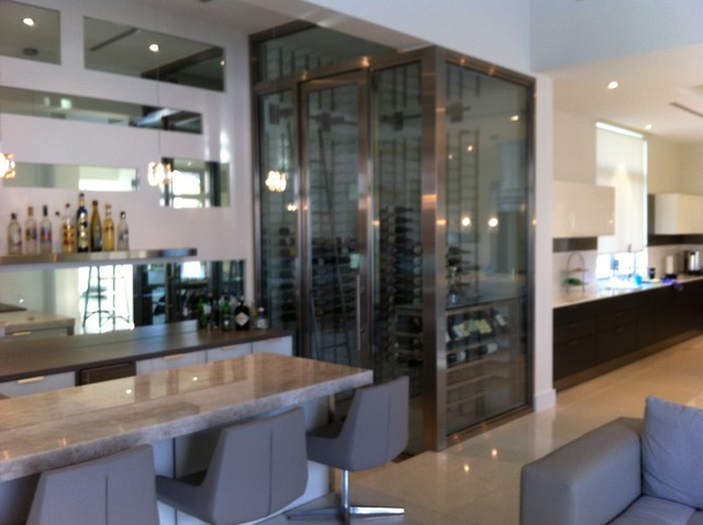 Coral Gables contemporary-wine-cellar